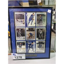 FRAMED TORONTO MAPLE LEAFS 1966-1967 STANLEY CUP CHAMPIONS CARDS