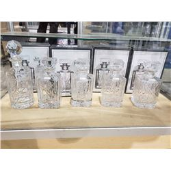 ASSORTED TOP SHELF CRYSTAL DECANTERS