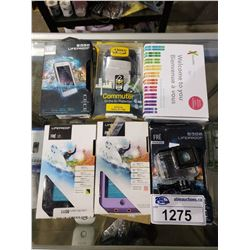ASSORTED CELLPHONE CASES + 23 & ME SALIVA COLLECTION KIT