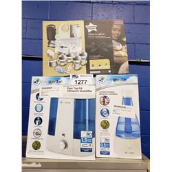 2 PURE GUARDIAN HUMIDIFIERS & TOMMEE TIPPEE NEWBORN GIFT SET