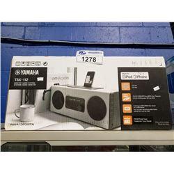 YAMAHA TSX-112 MADE FOR IPOD/IPHONE DESKTOP AUDIO SYSTEM