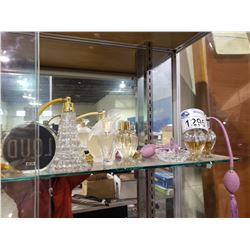 ASSORTED PERFUME DECANTERS