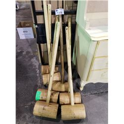 7 LARGE WOODEN MALLETS