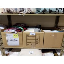 ASSORTED BLANKETS & CLOTHS