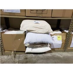 ASSORTED SLEEPING PILLOWS & TOWELS