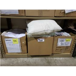 ASSORTED SLEEPING PILLOWS, SHEETS, & TOWELS