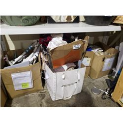 APPROX. 5 BOXES OF ASSORTED TEXTILES, SHEETS, &/OR TOWELS