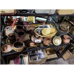 ASSORTED POTTERY & BASKETS