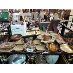 ASSORTED BOWLS & PULLEY PARTS