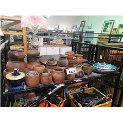 ASSORTED POTTERY, PLATES, & MORE