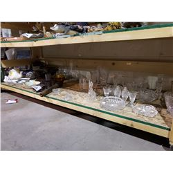 ASSORTED CRYSTALWARE, DISHWARE, & MORE