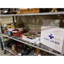 2 NEW FIRST AID KITS, FRAME SUPPORTS, HOME DECOR, & MORE