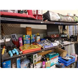ASSORTED BURNERS, GARDENING SUPPLIES, SNOW SHOE BOTTOMS, & MUCH MORE