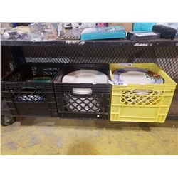 3 CRATES OF ASSORTED DISHWARE