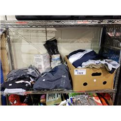 ASSORTED CLOTHES, BEDDING, & MORE