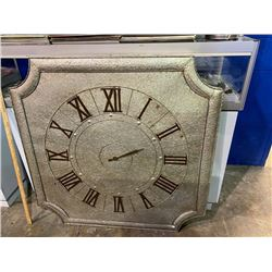 LARGE TIN HANGING WALL CLOCK