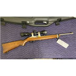RUGER 10/22, .22LR, SEMI AUTOMATIC, SERIAL #0006-82217, REFINISHED IN OIL HARDWOOD, PREVIOUS STOCK
