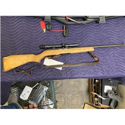 WINCHESTER COOEY MODEL 64A, .22LR, SEMI AUTOMATIC, SERIAL #UNKNOWN, WEAVER SCOPE, COMES WITH 2