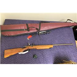 COOEY MODEL 75, .22 CAL, SINGLE SHOT BOLT ACTION, SERIAL #UNKNOWN, COMES WITH SOFT CASE, TRIGGER