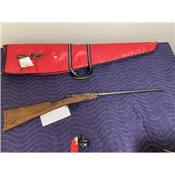 DEUTSCHE WERKE ERFURT MODEL 1, .22LR, SINGLE SHOT BOLT PULL, COMES WITH SOFT CASE AND TRIGGER LOCK