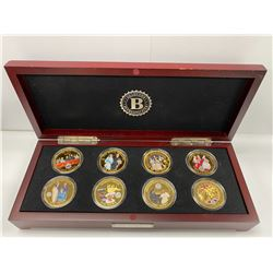 BRADFORD EXCHANGE BOX COIN COLLECTION LABELED 'QUEEN ELIZABETH II CROWNING MOMENTS'