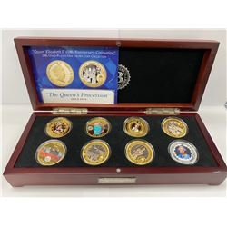 BRADFORD EXCHANGE BOX COIN COLLECTION LABELED 'QUEEN ELIZABETH II'S 90TH BIRTHDAY IMPERIAL CROWN