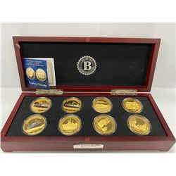 BRADFORD EXCHANGE BOX COIN COLLECTION LABELED 'THE WORLDS GREATEST NAVAL BATTLES COIN COLLECTION'