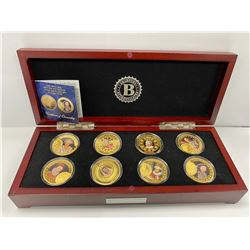BRADFORD EXCHANGE BOX COIN COLLECTION LABELED 'THE HISTORIC BATTLE SOVEREIGN 200TH ANNIVERSARY