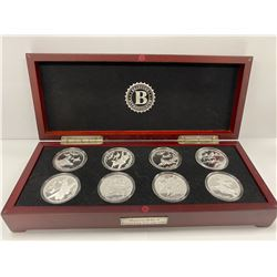 BRADFORD EXCHANGE BOX COIN COLLECTION LABELED 'WORLD WAR II BOMBERS COLLECTION'