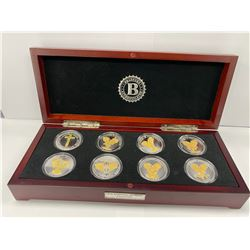 BRADFORD EXCHANGE BOX COIN COLLECTION LABELED 'THE STRENGTH OF FAITH ARCHANGEL'