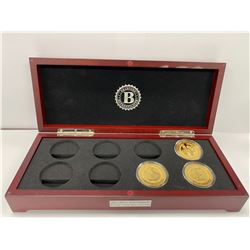 BRADFORD EXCHANGE BOX COIN COLLECTION LABELED 'JFK 100TH ANNIVERSARY PROOF COIN COLLECTION'