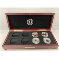 BRADFORD EXCHANGE BOX COIN COLLECTION LABELED 'PRESIDENT OBAMA LEGACY PROOF COIN COLLECTION'