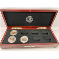 BRADFORD EXCHANGE BOX COIN COLLECTION LABELED '75TH ANNIVERSARY D-DAY PROOF COIN COLLECTION'