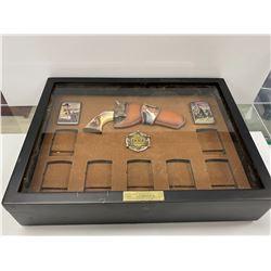 BRADFORD EXCHANGE JOHN WAYNE LIGHTER COLLECTION DISPLAY BOX
