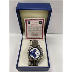 BRADFORD EXCHANGE VANCOUVER CANUCKS WATCH IN CASE