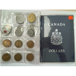 COLLECTION OF CANADIAN COINS IN CASE