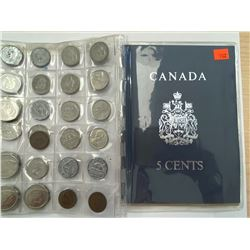 COLLECTION OF CANADIAN NICKELS AND OTHER COINS IN CASE