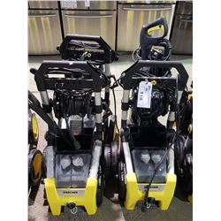 4 ASSORTED KARCHER PRESSURE WASHERS UNTESTED AND/OR MISSING PIECES