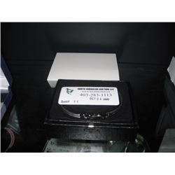 BANGLE BRACLET SILVERS W/ CRYSTAL W/BOX