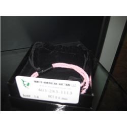 PINK ROPE WITH HEART PENDANT BRACELET W/BOX