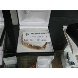 ROSE GOLD MEDICAL ID BRACLET W/BOX