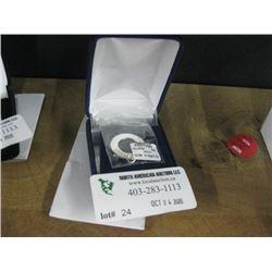STERLING SILVER OPEN CIRCLE BRACLET W/BOX
