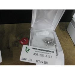 NECKLACE HEART SLIDER 925 STERLING SILVER W/BOX