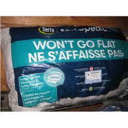 SERTA WONT GO FLAT PILLOW