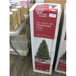 WINTER WONDERLAND 6.5FT PRE LIT LED CHRISTMAS TREE