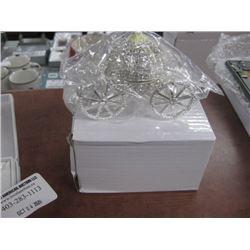 CRYSTAL PUMPKIN TRINKET BOX W/BOX