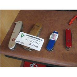 4PC VICORINOX POCKET KNIFES