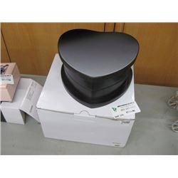 HEART SWIVEL ESPRESSO JEWELRY BOX W/BOX