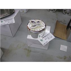 ROUND BUTTERFLY TRINKET BOX W/BOX