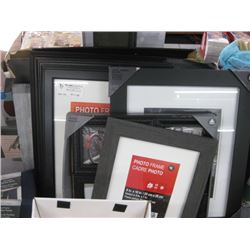 STACK OF ASSORTED PHOTO FRAMES